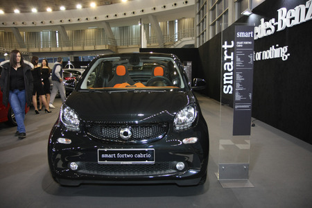 BELGRADE,SERBIA-MARCH 27,2018:   Mercedes Smart Fortwo at DDOR BG Car Show 06 報道画像