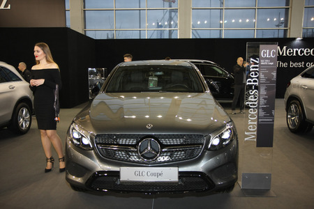 BELGRADE,SERBIA-MARCH 27,2018:   Mercedes GLC 250 d Coupe at DDOR BG Car Show 06