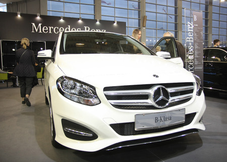 BELGRADE,SERBIA-MARCH 27,2018:   Mercedes B 180 D at DDOR BG Car Show 06