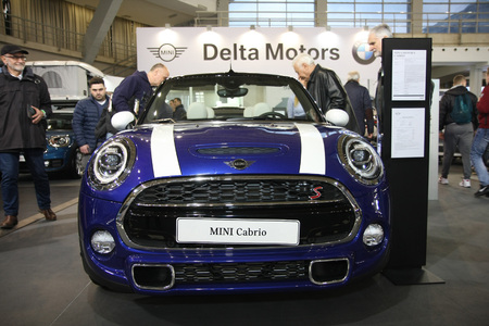 BELGRADE,SERBIA-MARCH 27,2018: MINI COOPER S CABRIO at DDOR BG Car Show 06 報道画像