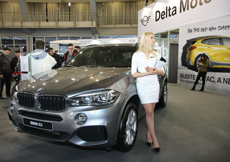 BELGRADE,SERBIA-MARCH 27,2018: BMW X5 xDrive 25d at DDOR BG Car Show 06