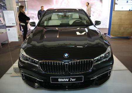 BELGRADE,SERBIA-MARCH 27,2018: BMW 730d xDrive  at DDOR BG Car Show 06