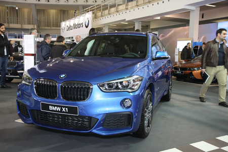 BELGRADE,SERBIA-MARCH 27,2018: BMW X1 sDrive 18d  at DDOR BG Car Show 06