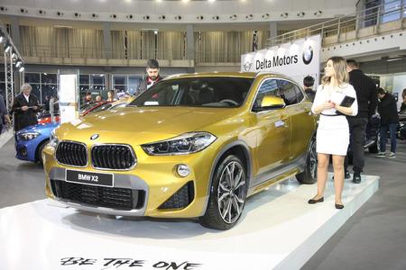BELGRADE,SERBIA-MARCH 27,2018: BMW X2 sDrive 18d  at DDOR BG Car Show 06