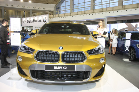 BELGRADE,SERBIA-MARCH 27,2018: BMW X1 sDrive 18d  at DDOR BG Car Show 06