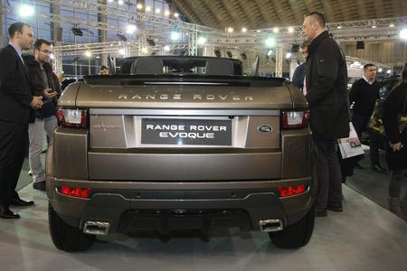 BELGRADE,SERBIA-MARCH 27,2018: Range Rover Evoque Conbertible SE Dynamic TD4 150 A9 AWD at DDOR BG Car Show 06