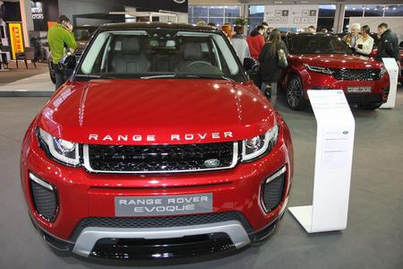 BELGRADE,SERBIA-MARCH 27,2018: Range Rover Evoque  SE Dynamic 2.0 150HP  TD4 150 A9 AWD at DDOR BG Car Show 06 Editorial