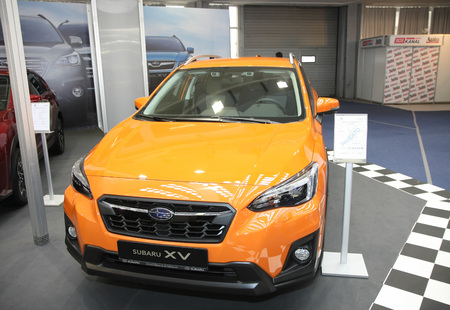 BELGRADE,SERBIA-MARCH 27,2018: Subaru XV 2.0 Petrol CVT EyeSight  at DDOR BG Car Show 06