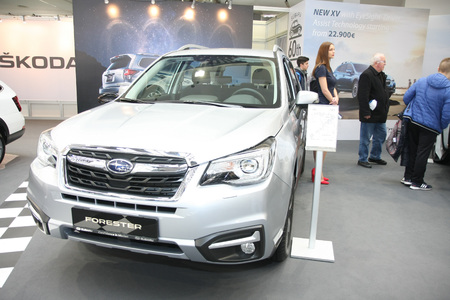 BELGRADE,SERBIA-MARCH 27,2018: Subaru Forester 2.0 Diesel 6MT at DDOR BG Car Show 06