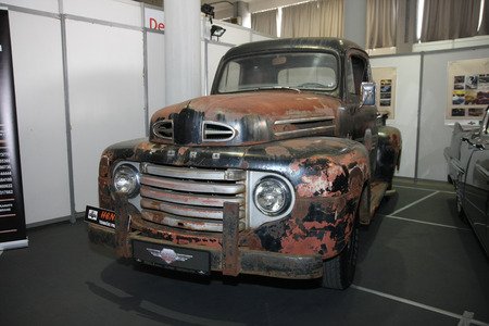 BELGRADE,SERBIA-MARCH 27,2018:  Ford F - Series from 1948 at DDOR BG Car Show 06