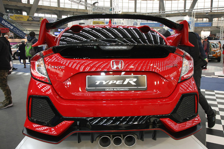 BELGRADE,SERBIA-MARCH 27,2018: Honda Civic 2.0 Type R GT 320HP at DDOR BG Car Show 06