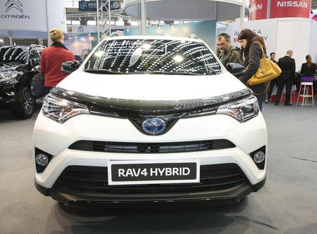 BELGRADE,SERBIA-MARCH 27,2018: Toyota RAV4 Hybrid at DDOR BG Car Show 06 報道画像