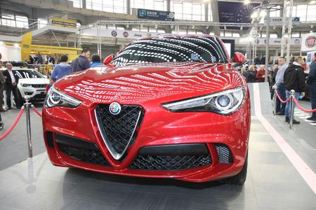BELGRADE,SERBIA-MARCH 27,2018: Alfa Romeo Stelvio QV 2.9 510HP AT at DDOR BG Car Show 06