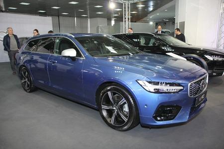 BELGRADE,SERBIA-MARCH 27,2018: Volvo V90 D4 R-Design at DDOR BG Car Show 06 報道画像