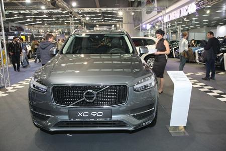 BELGRADE,SERBIA-MARCH 27,2018: Volvo XC90 D5 AWD Momentum at DDOR BG Car Show 06
