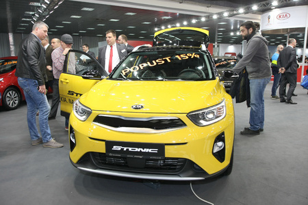 BELGRADE,SERBIA-MARCH 27,2018: Kia Stonic at DDOR BG Car Show 06