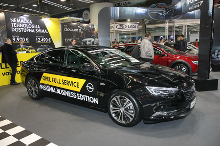 BELGRADE,SERBIA-MARCH 27,2018: Opel Insignia GS Innovation 2.0 170HP at DDOR BG Car Show 06