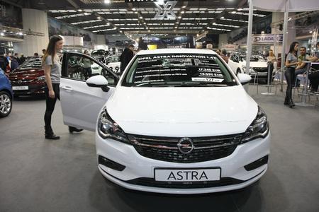 BELGRADE,SERBIA-MARCH 27,2018: Opel Astra Innovation 1.4T at DDOR BG Car Show 06 Redakční