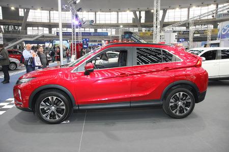 BELGRADE,SERBIA-MARCH 27,2018:Mitsubishi Eclipse Cross 1.5 Invite+ 2WD CVT at DDOR BG Car Show 06