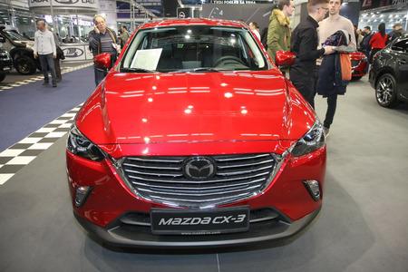 BELGRADE,SERBIA-MARCH 27,2018: Mazda CX-3 at DDOR BG Car Show 06