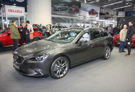 BELGRADE,SERBIA-MARCH 27,2018: Mazda 6 at DDOR BG Car Show 06 報道画像
