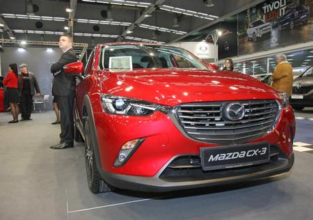 BELGRADE,SERBIA-MARCH 27,2018: Mazda CX-3 G120 Revolution at DDOR BG Car Show 06