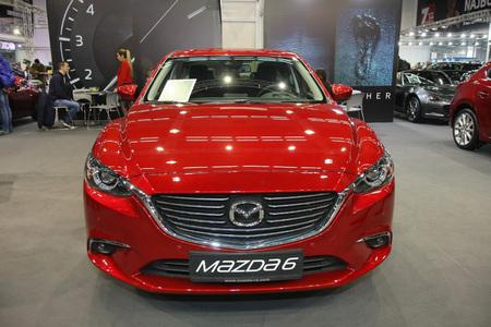 BELGRADE,SERBIA-MARCH 27,2018: Mazda 6 G165 Revolution at DDOR BG Car Show 06