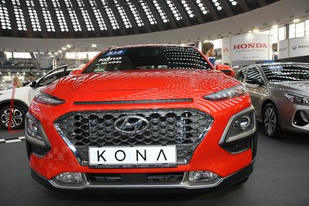 BELGRADE,SERBIA-MARCH 27,2018: Hyundai Kona at DDOR BG Car Show 06 報道画像
