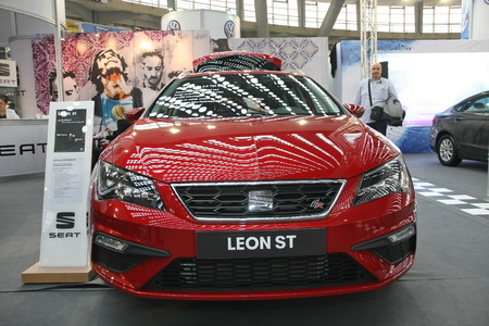 BELGRADE,SERBIA-MARCH 27,2018: Seat Leon ST 2.0 TDI DSG FR at DDOR BG Car Show 06