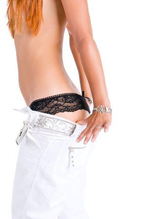 Girl take off bikini photo