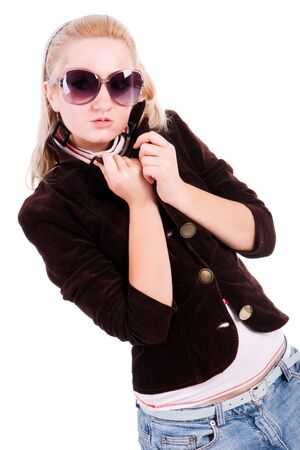 Portrait of pretty blonde in sunglasses Stock Photo - 5643088