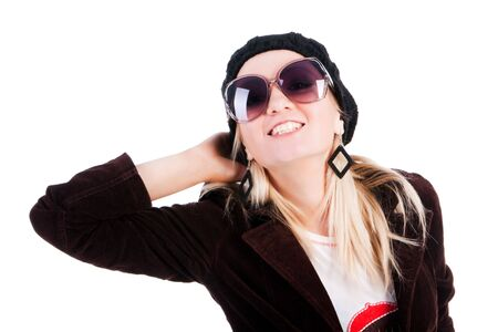Portrait of a smiling pretty girls in glasses Stock Photo - 5643093