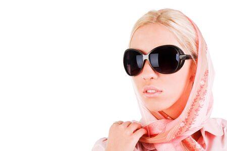 Picture of a beautiful alluring girl in sunglasses