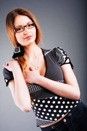 Portrait of a charming young slim girl photo