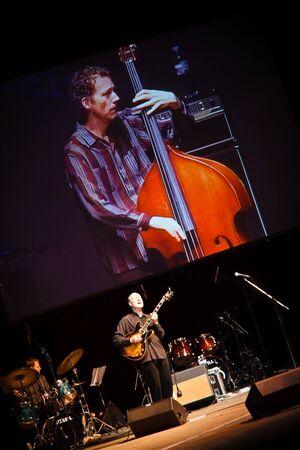 KHARKOV, UKRAINE - APRIL 15: John Scofield Quartet play on scene on April 15, 2010 in ZaJazz Festival, Kharkov, Ukraine. Editorial