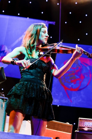 KOKTEBEL, UKRAINE - 12 SEPT: Oi Va Voi jeu sur sc�ne le 12 septembre 2009 au Festival de Jazz Koktebel, Ukraine.