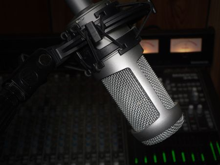 studio vocal recording microphone