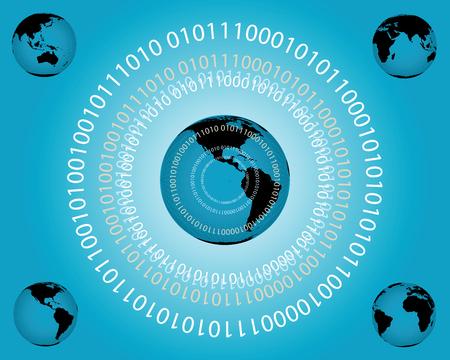 global networking: ilustraci�n vectorial que representa la creaci�n de redes mundiales. Archivo intercambiables incluye globos para la posici�n central.