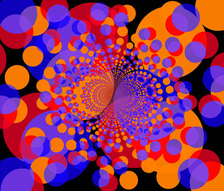 fractal illustration of round colorful purple and orange shapes Stock Illustration - 2114499