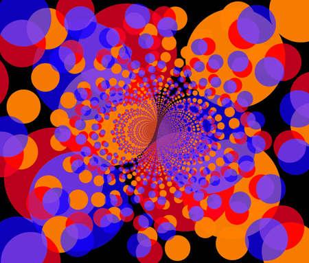 fractal illustration of round colorful purple and orange shapes Stock Illustration - 2114499