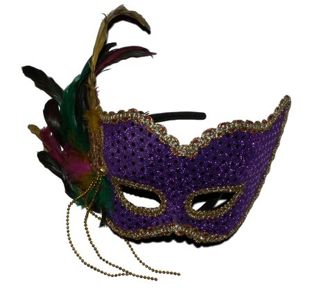 a isolated photo of a carnival mask on a white background Stok Fotoğraf