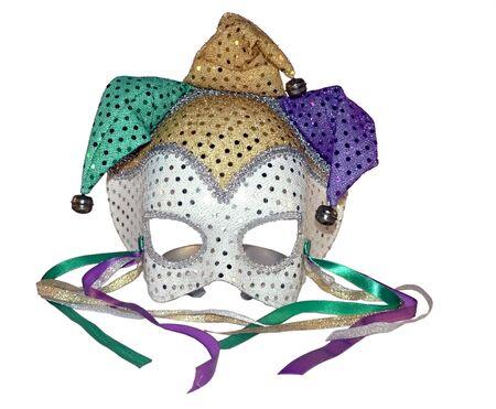 白い背景の上のカーニバル マスクの分離写真 写真素材