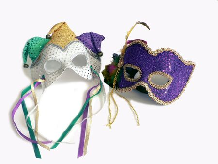 a pair of carnival mask