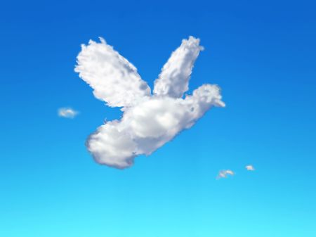 photo of a cloud made to look like a dove Фото со стока