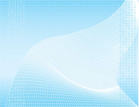illustration of a digital wave pattern that is great for a background Stock Illustration - 2145774