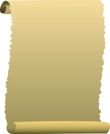a vector illustration of a blank scroll