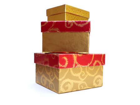 three gift boxes: foto de regalo tres cajas apiladas una sobre otra