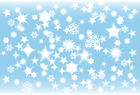 snowstorm: vector illustration of a snowstorm during winter