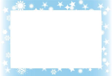 ベクトル イラストのフレーム、雪の秋冬景色