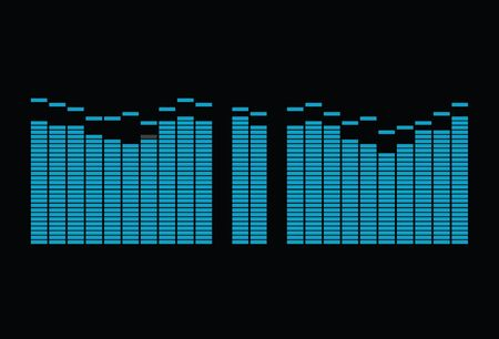 illustration of a editable equalizer spectrum of music signals. A editable vector version is also available!